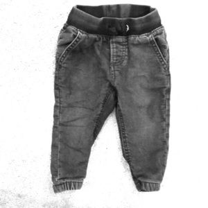 Baby Gap faded black joggers